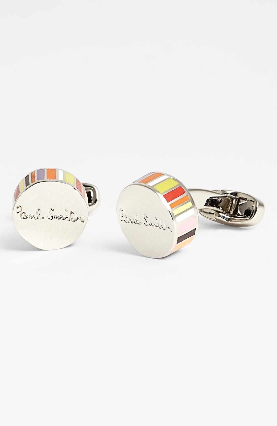 Alternate Image 1 Selected - Paul Smith Accessories Multi Stripe Round Cuff Links