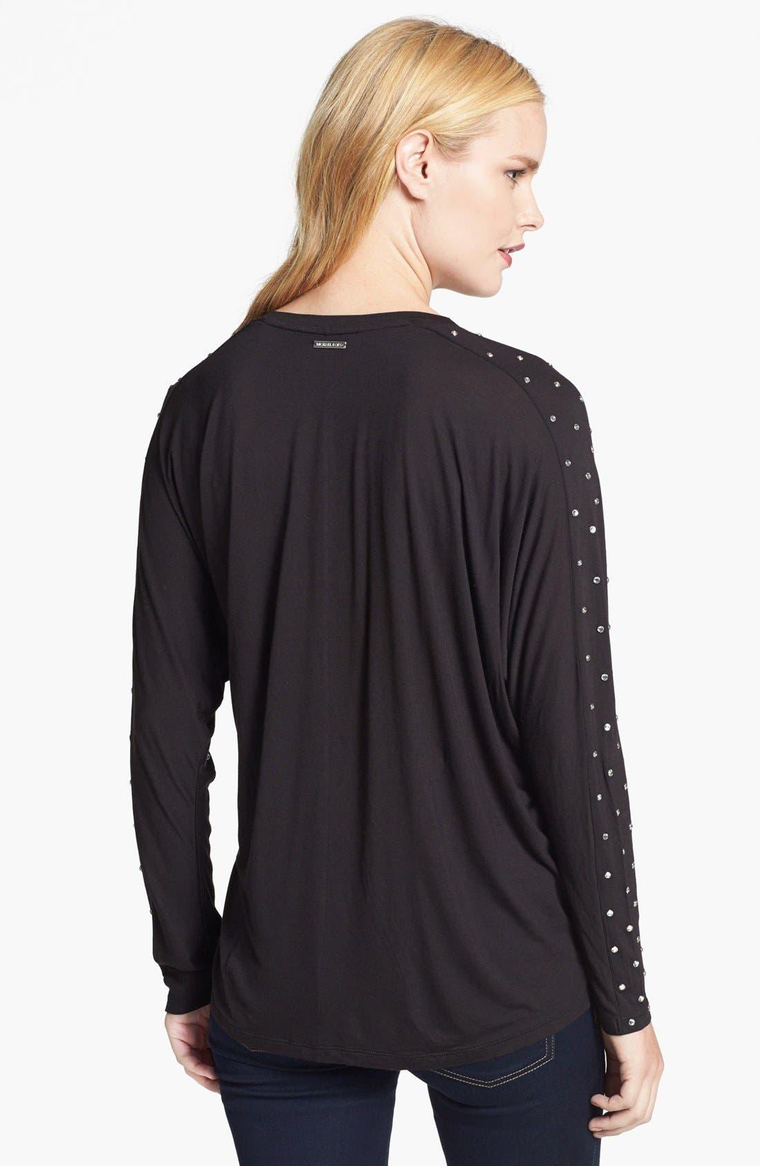 Alternate Image 2  - MICHAEL Michael Kors Studded Sleeve Top (Regular & Petite)