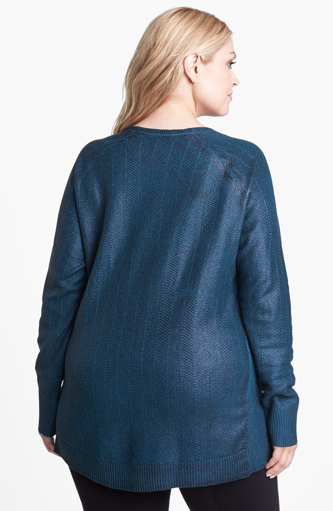 Alternate Image 2  - Sejour 'Mirah' Foiled Sweater (Plus Size)