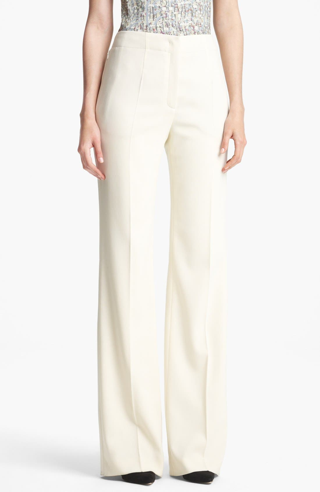 Alternate Image 1 Selected - ESCADA 'Columbo' Wide Leg Stretch Wool Pants