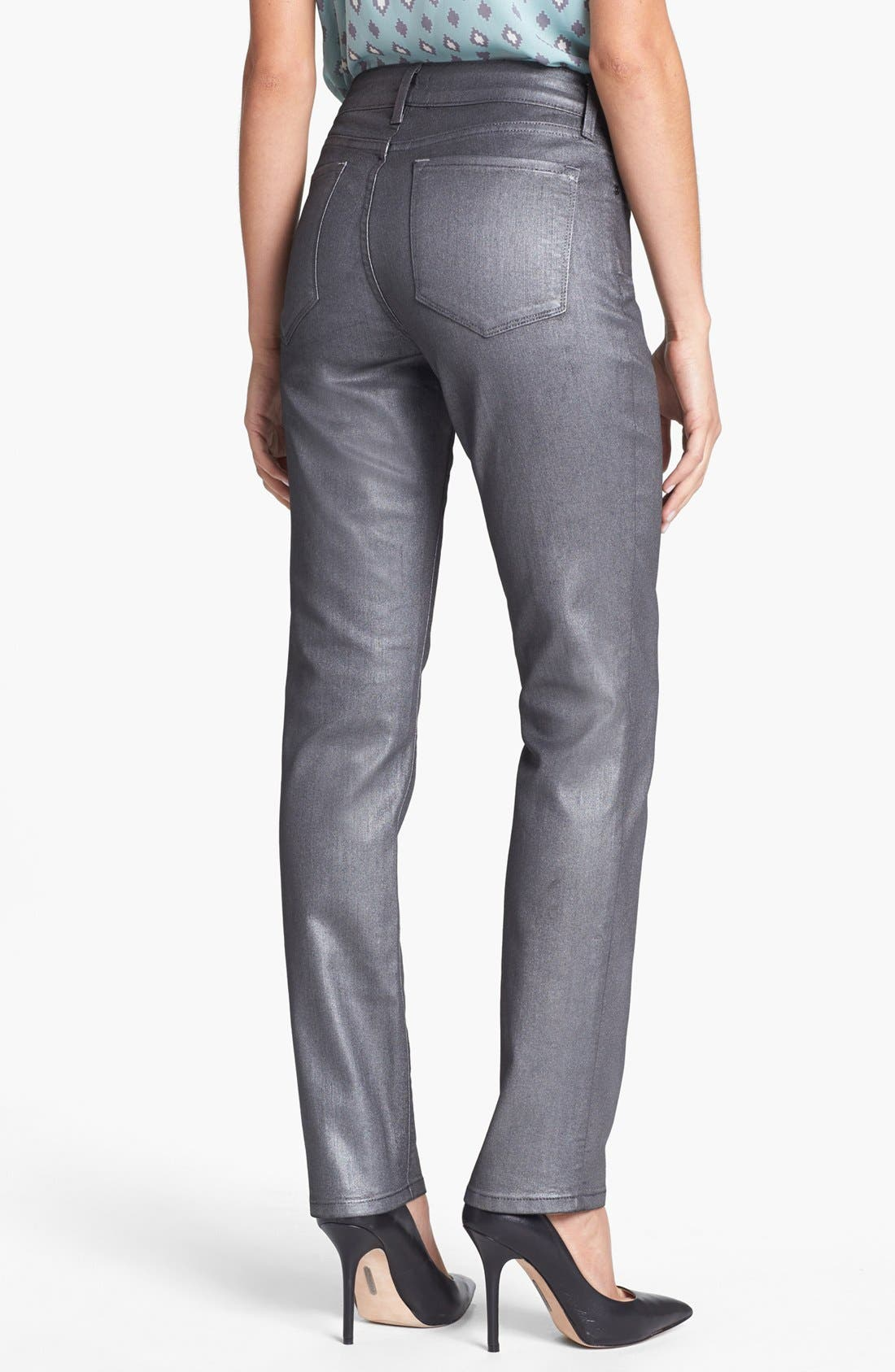 Alternate Image 2  - NYDJ 'Sheri' Foiled Stretch Skinny Jeans