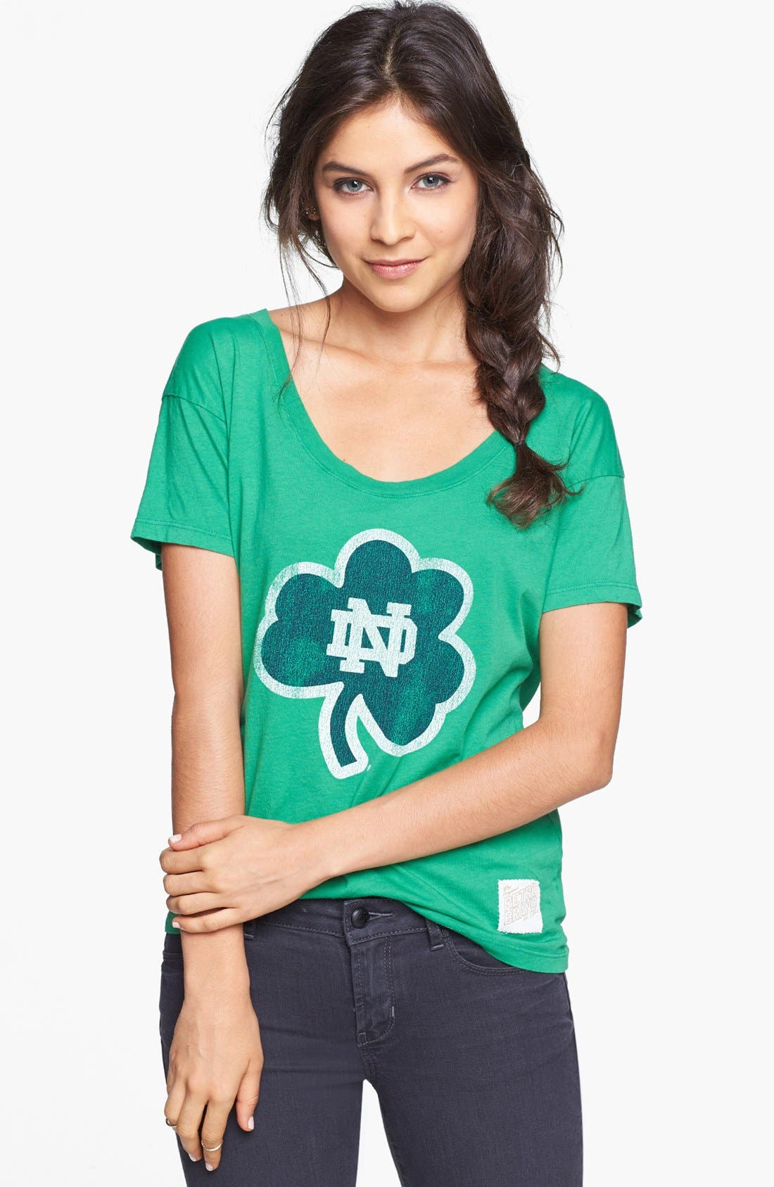Alternate Image 1 Selected - Retro Brand 'University of Notre Dame Fighting Irish' Graphic Tee (Juniors)