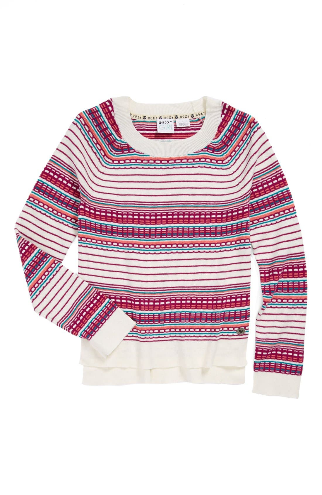 Alternate Image 1 Selected - Roxy 'In the Road' Sweater (Big Girls)