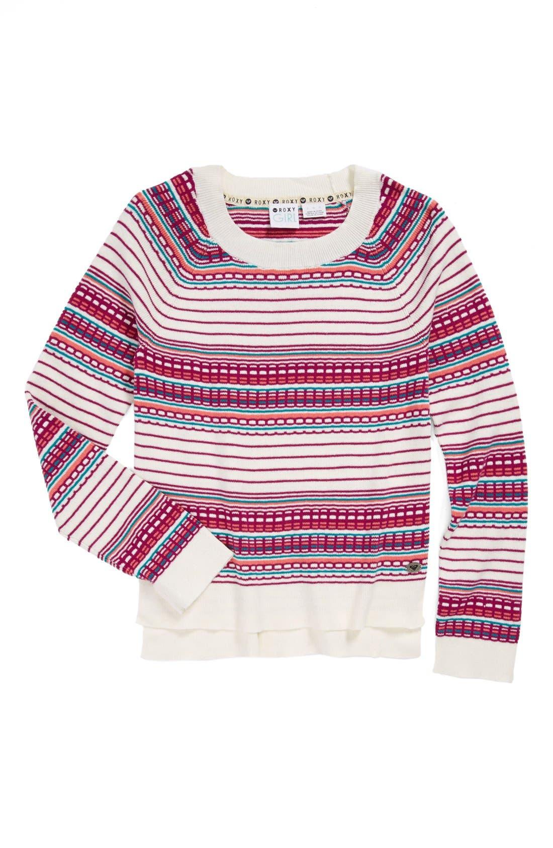 Main Image - Roxy 'In the Road' Sweater (Big Girls)