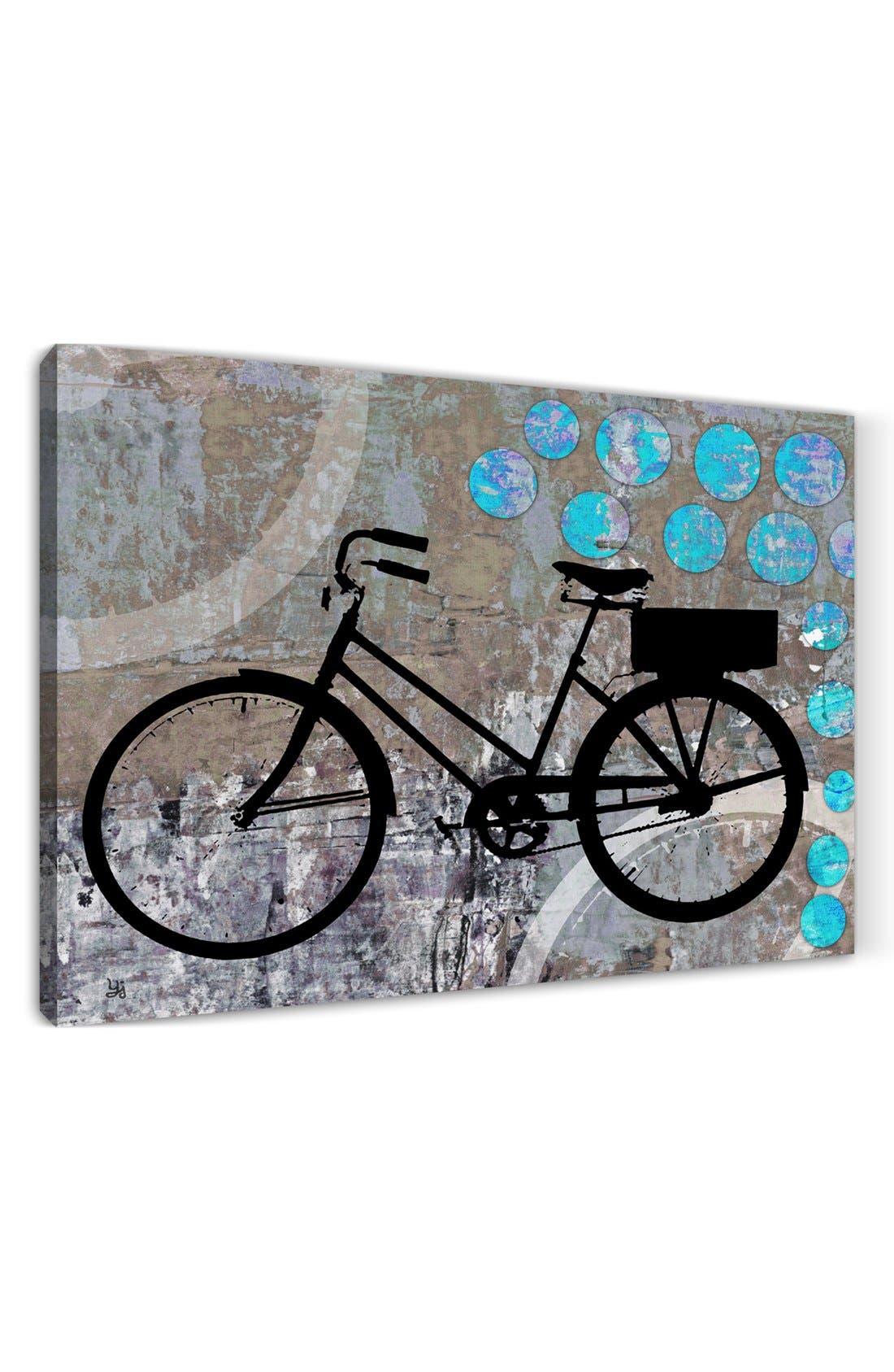 Alternate Image 3  - Green Leaf Art 'School Bicycle' Wall Art