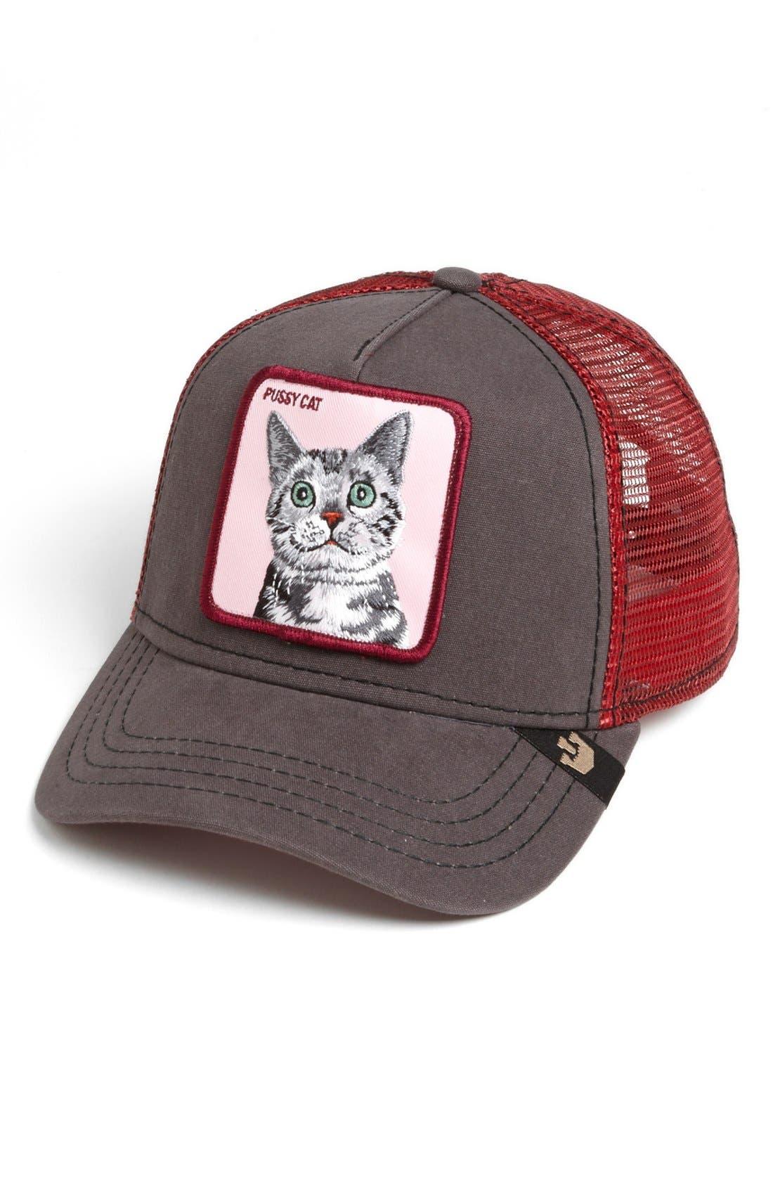 Main Image - Goorin Brothers 'Animal Farm - Whiskers Cat' Trucker Hat