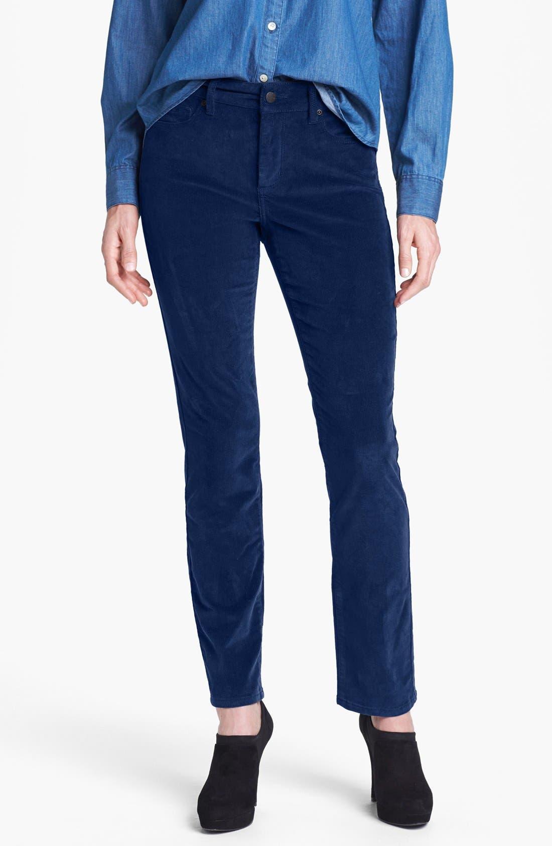 Alternate Image 1 Selected - NYDJ 'Sheri' Colored Stretch Corduroy Skinny Pants (Regular & Petite)