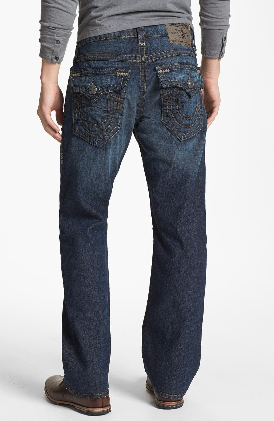 Alternate Image 1 Selected - True Religion Brand Jeans 'Ricky - Super T' Straight Leg Jeans (Asjd Breaking Grounds)