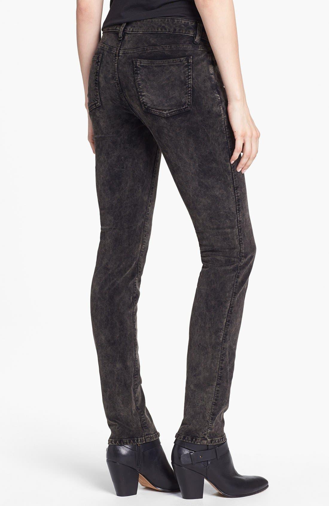 Alternate Image 2  - Eileen Fisher Stretch Velveteen Skinny Jeans