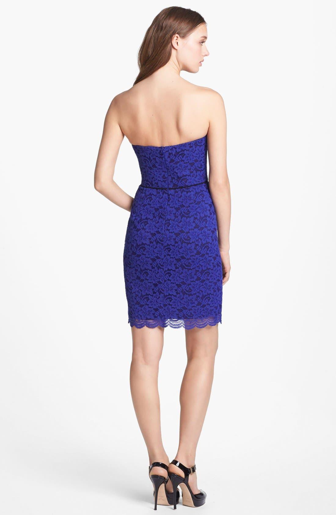 Alternate Image 2  - Diane von Furstenberg 'Walker' Lace Tube Dress