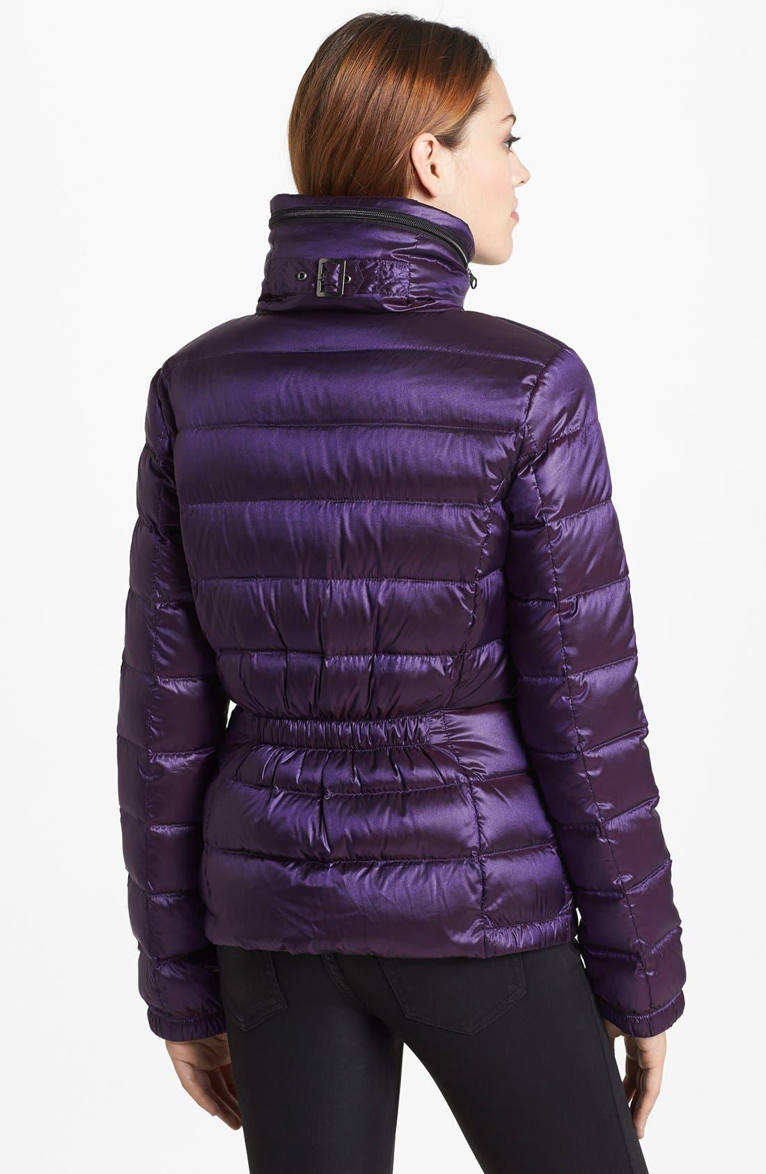 Alternate Image 2  - Bernardo Ruched Back Packable Goose Down Jacket