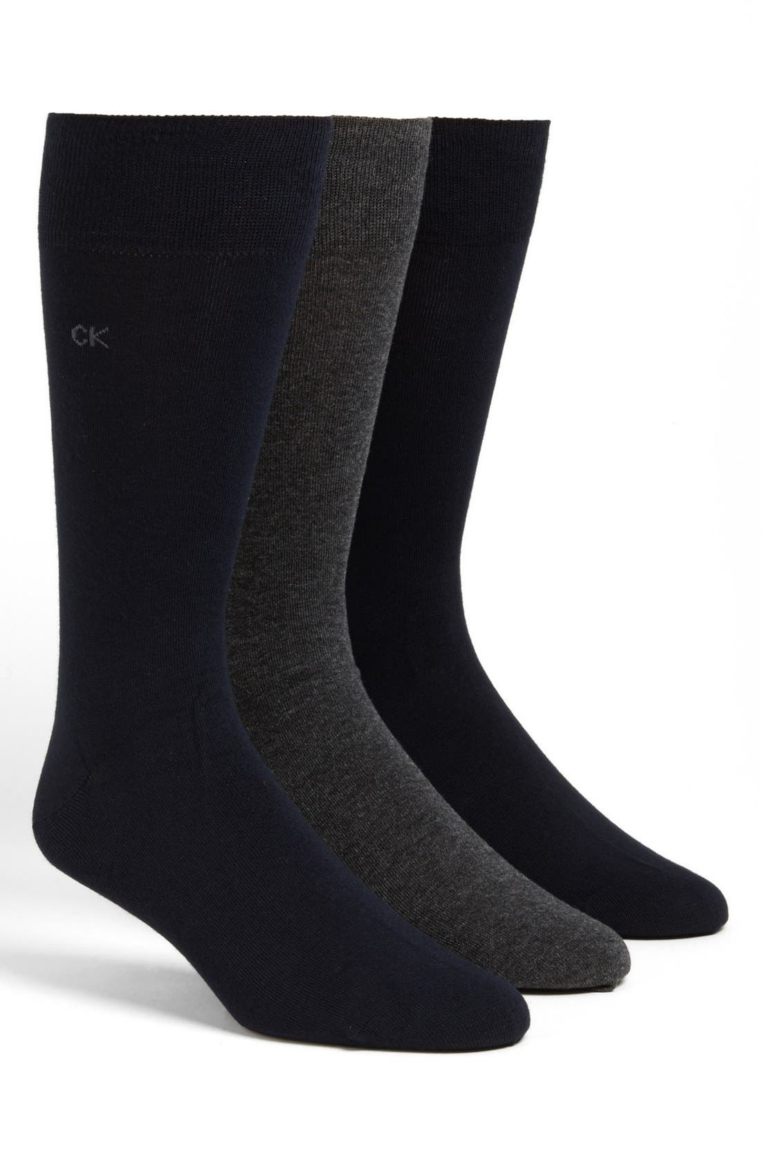 Assorted 3-Pack Socks,                             Main thumbnail 1, color,                             Assorted Blue