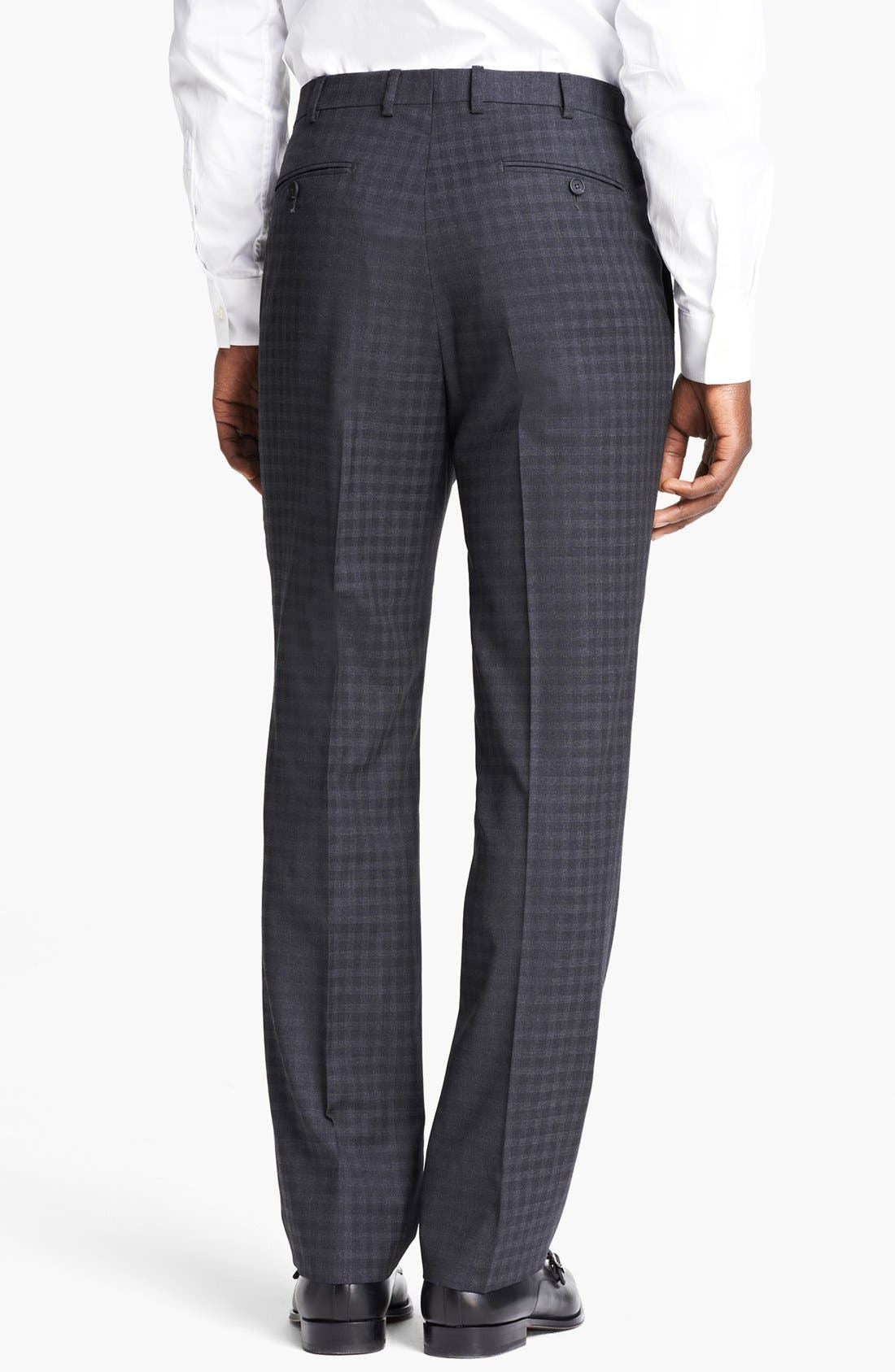 Alternate Image 6  - Z Zegna 'City' Dark Grey Check Wool Suit