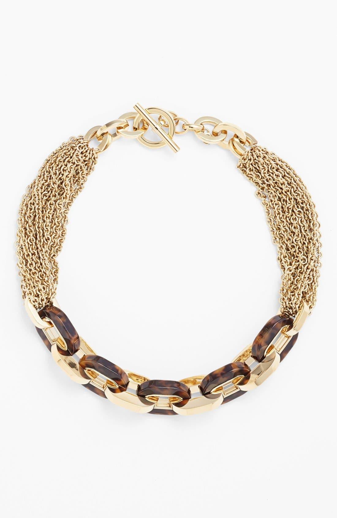 Alternate Image 2  - Michael Kors 'Modernist Glitz' Multi Chain Toggle Necklace