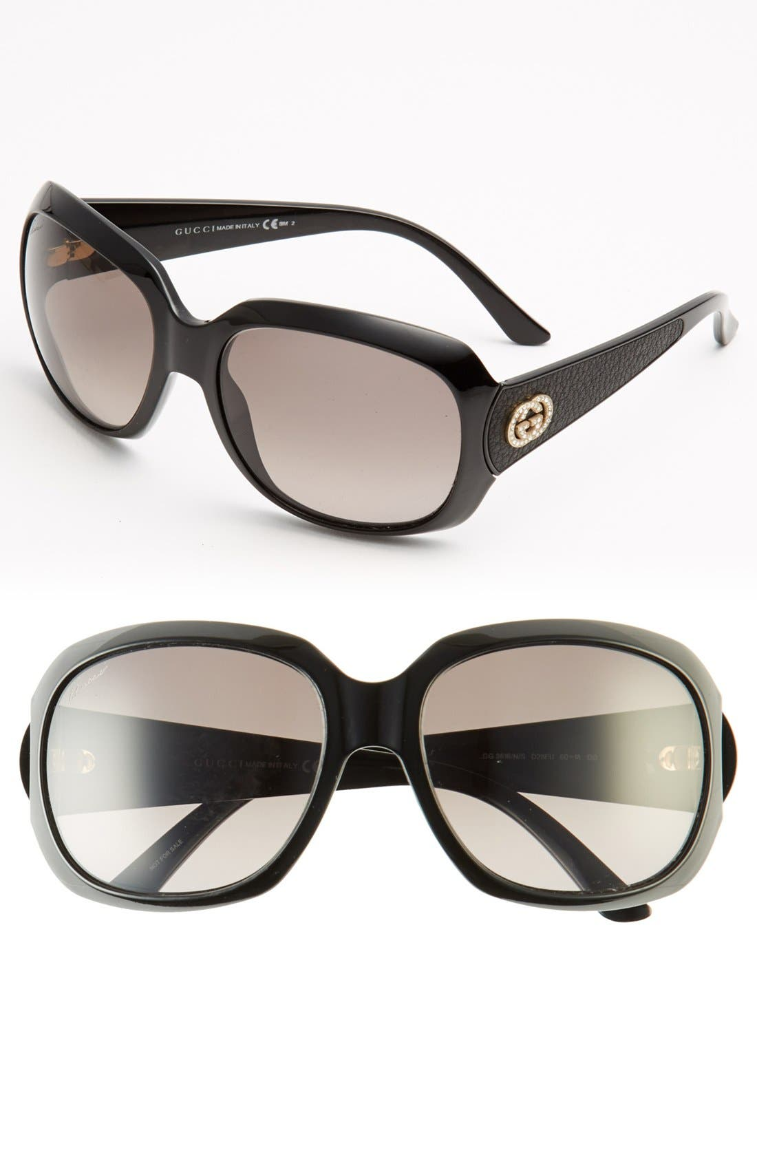 Alternate Image 1 Selected - Gucci 60mm Oversized Sunglasses