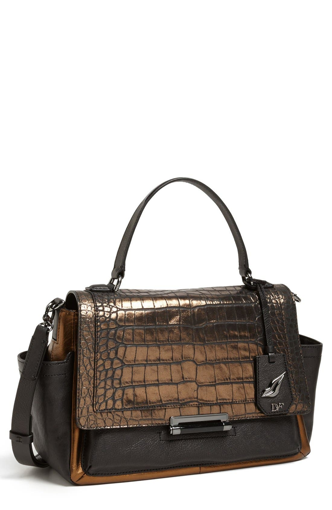 Alternate Image 1 Selected - Diane von Furstenberg 'Highline Courier' Leather Satchel