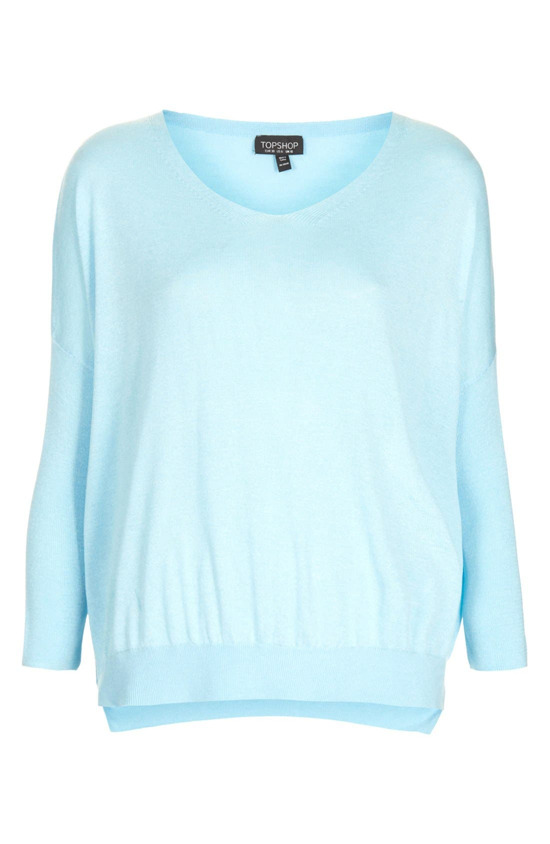 Alternate Image 3  - Topshop Knit V-Neck Sweater