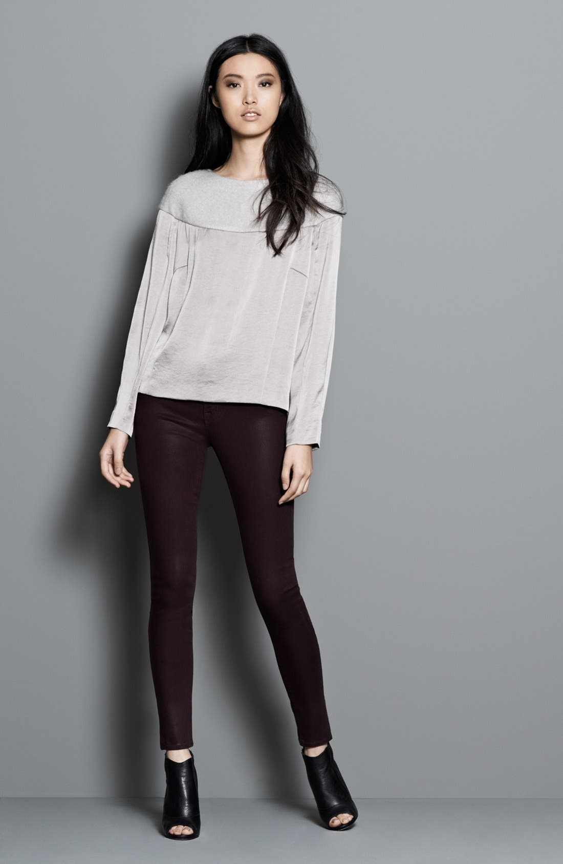 Alternate Image 4  - J Brand '485' Coated Skinny Jeans (Laquered Pinot)
