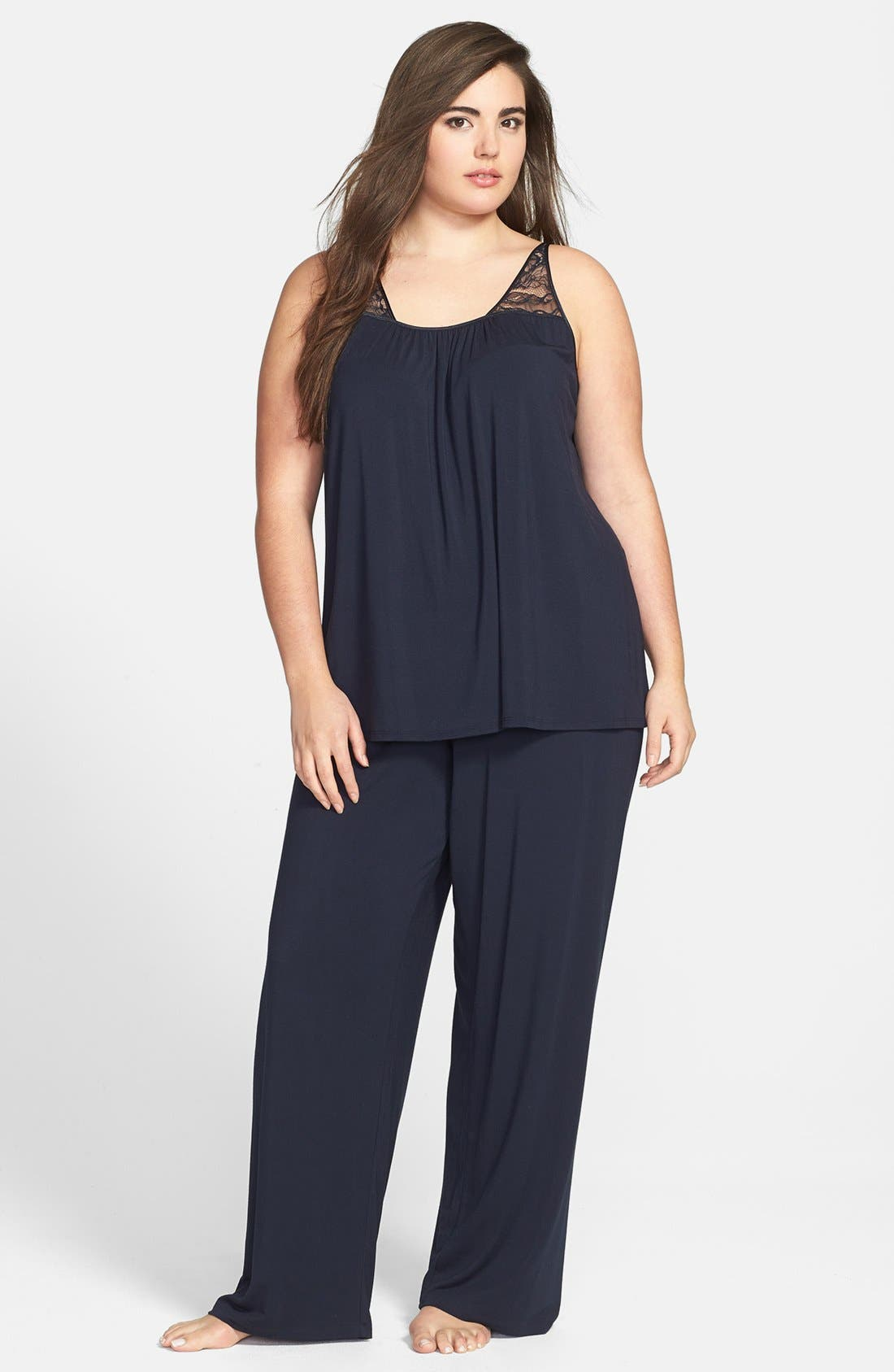 Alternate Image 1 Selected - Midnight by Carole Hochman 'Always On My Mind' Pajamas (Plus Size)