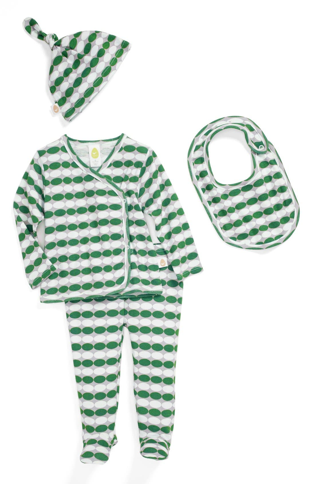 Main Image - Stem Baby Organic Cotton Shirt, Pants, Hat & Bib (Baby Boys)