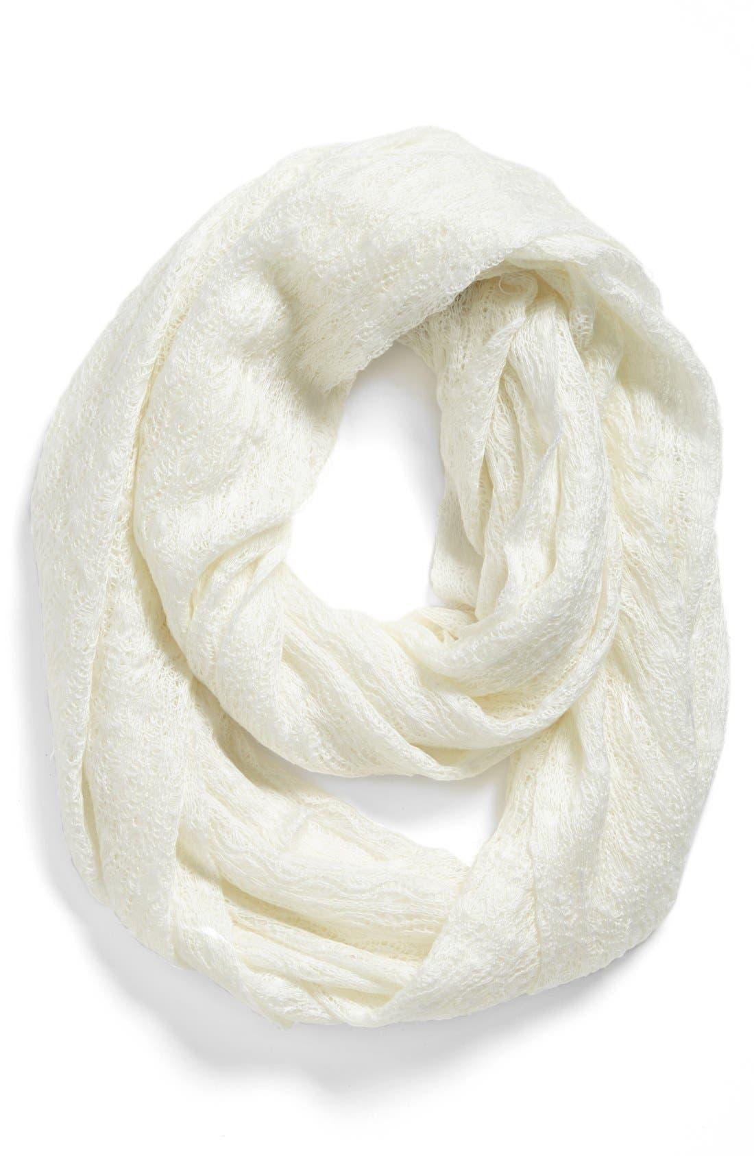 Alternate Image 1 Selected - Tildon Pointelle Knit Infinity Scarf