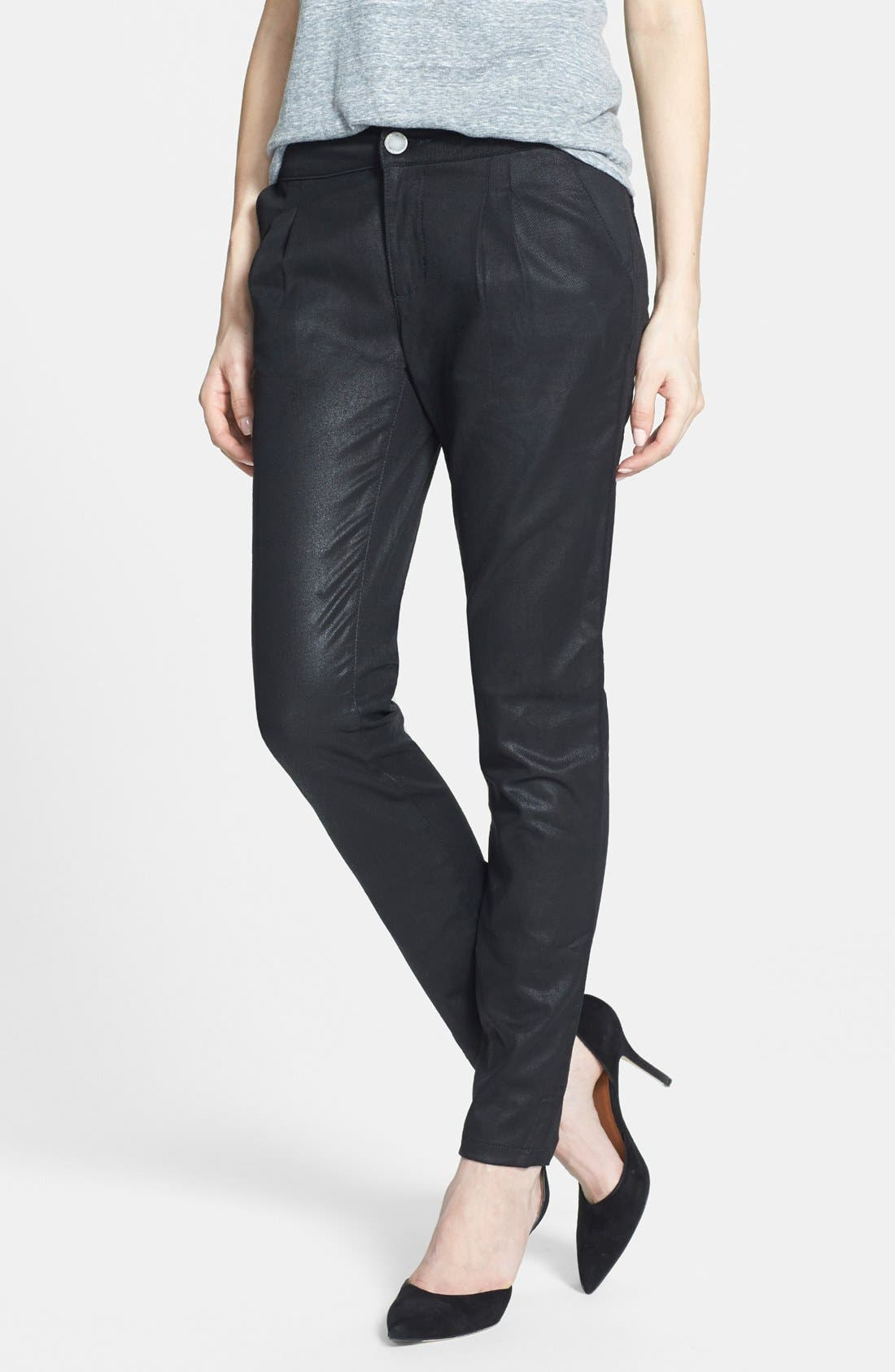 Main Image - DL1961 'Ava' Coated Slouchy Jeans (Wick)