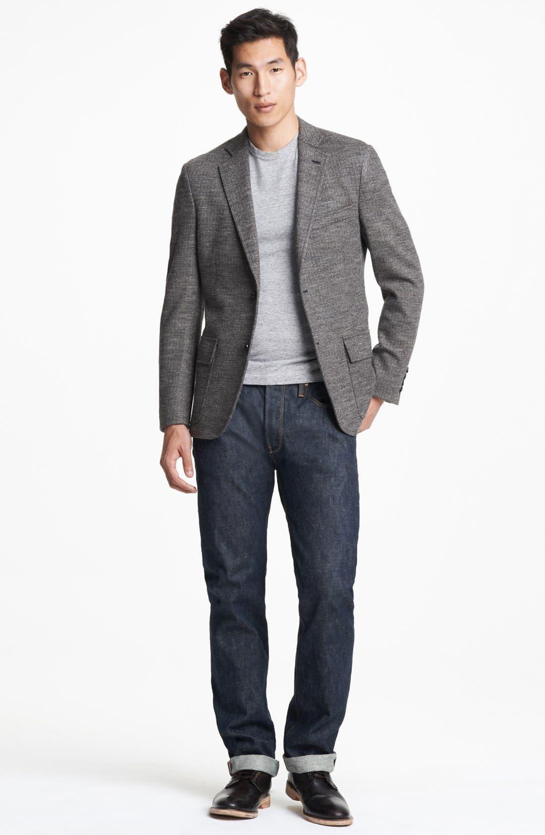 Alternate Image 4  - Todd Snyder Grey Wool Herringbone Blazer