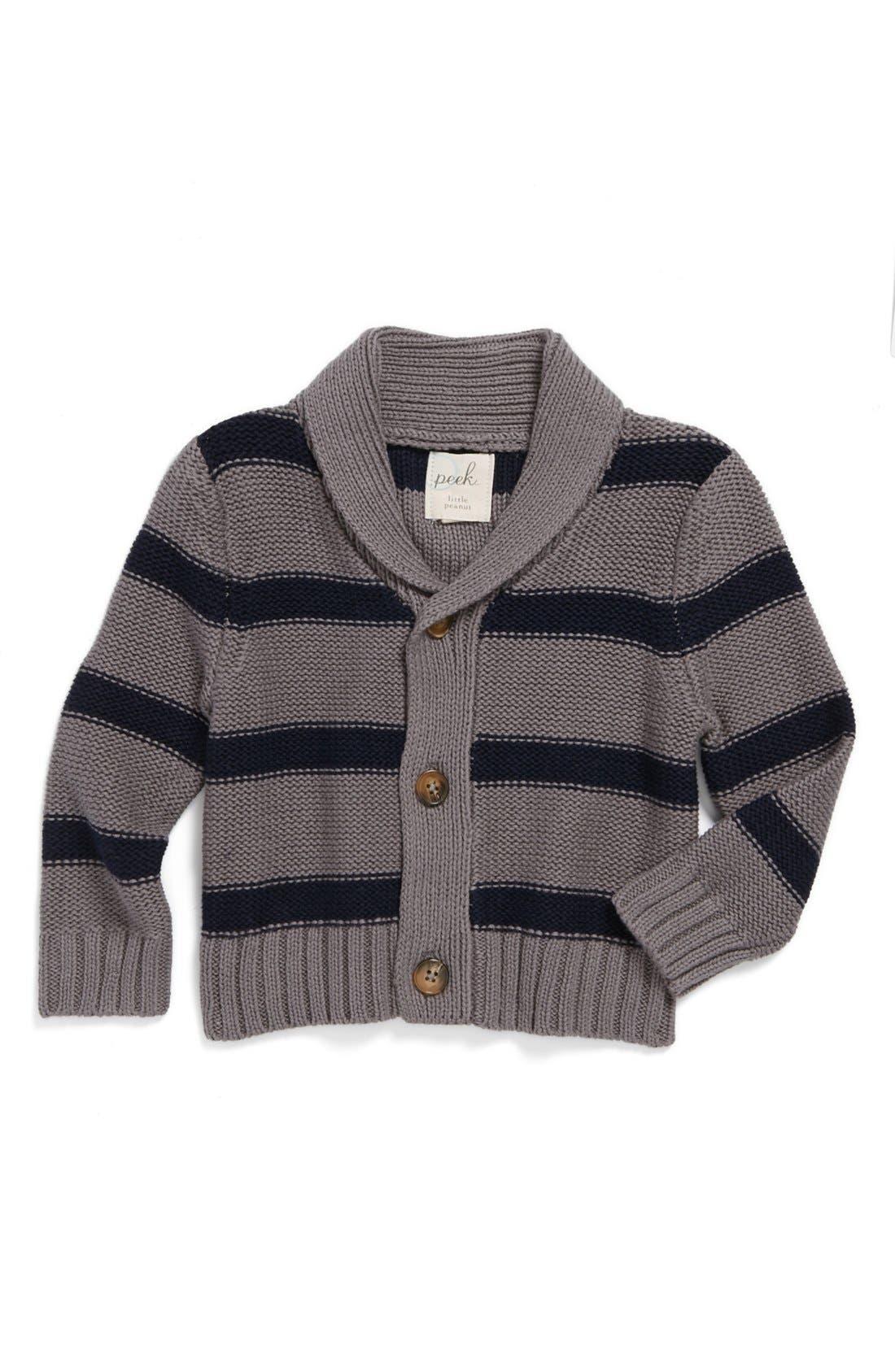 Alternate Image 1 Selected - Peek 'Highland' Stripe Cardigan (Baby Boys)