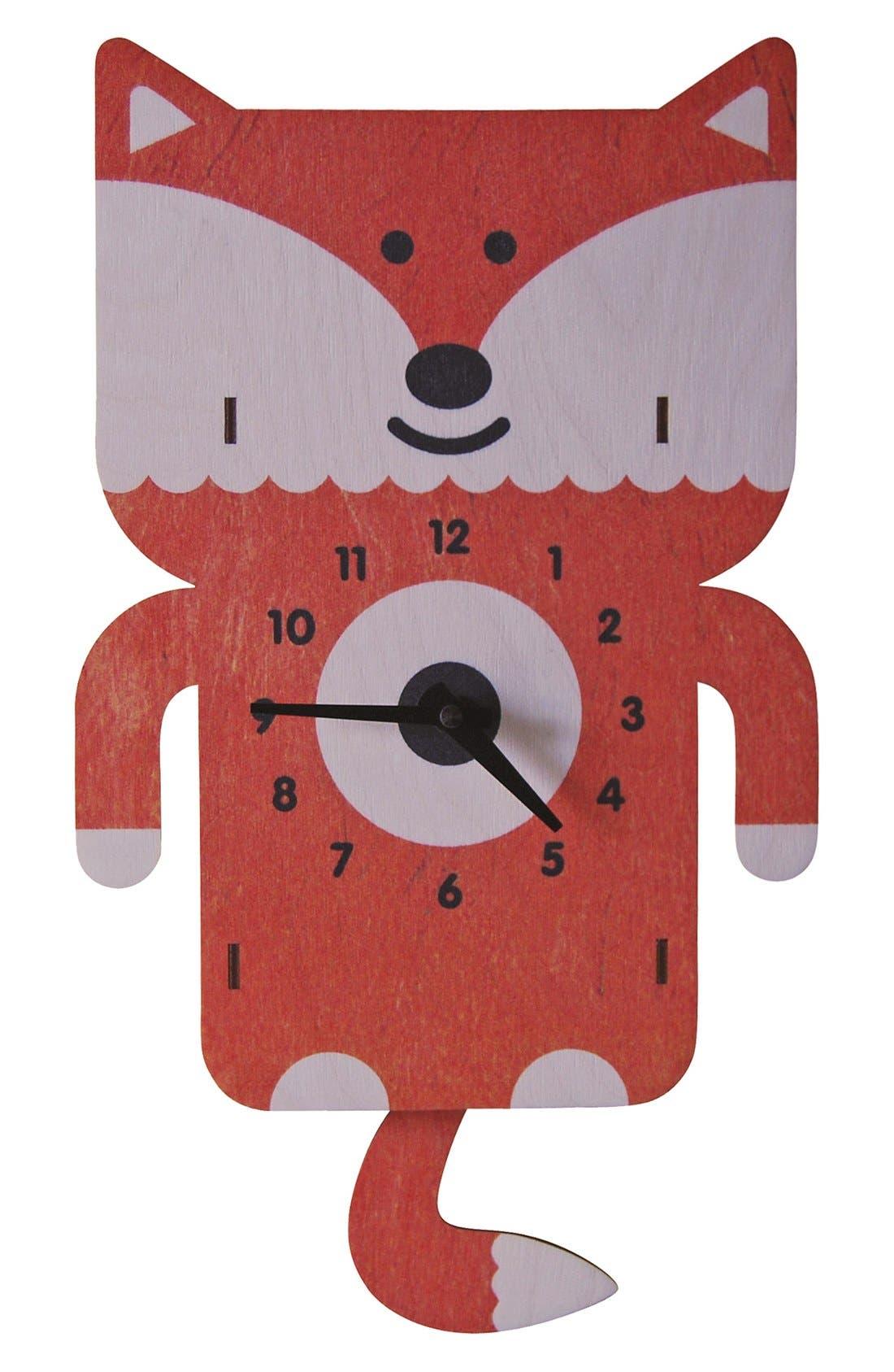 Main Image - Modern Moose 'Fox' Pendulum Clock