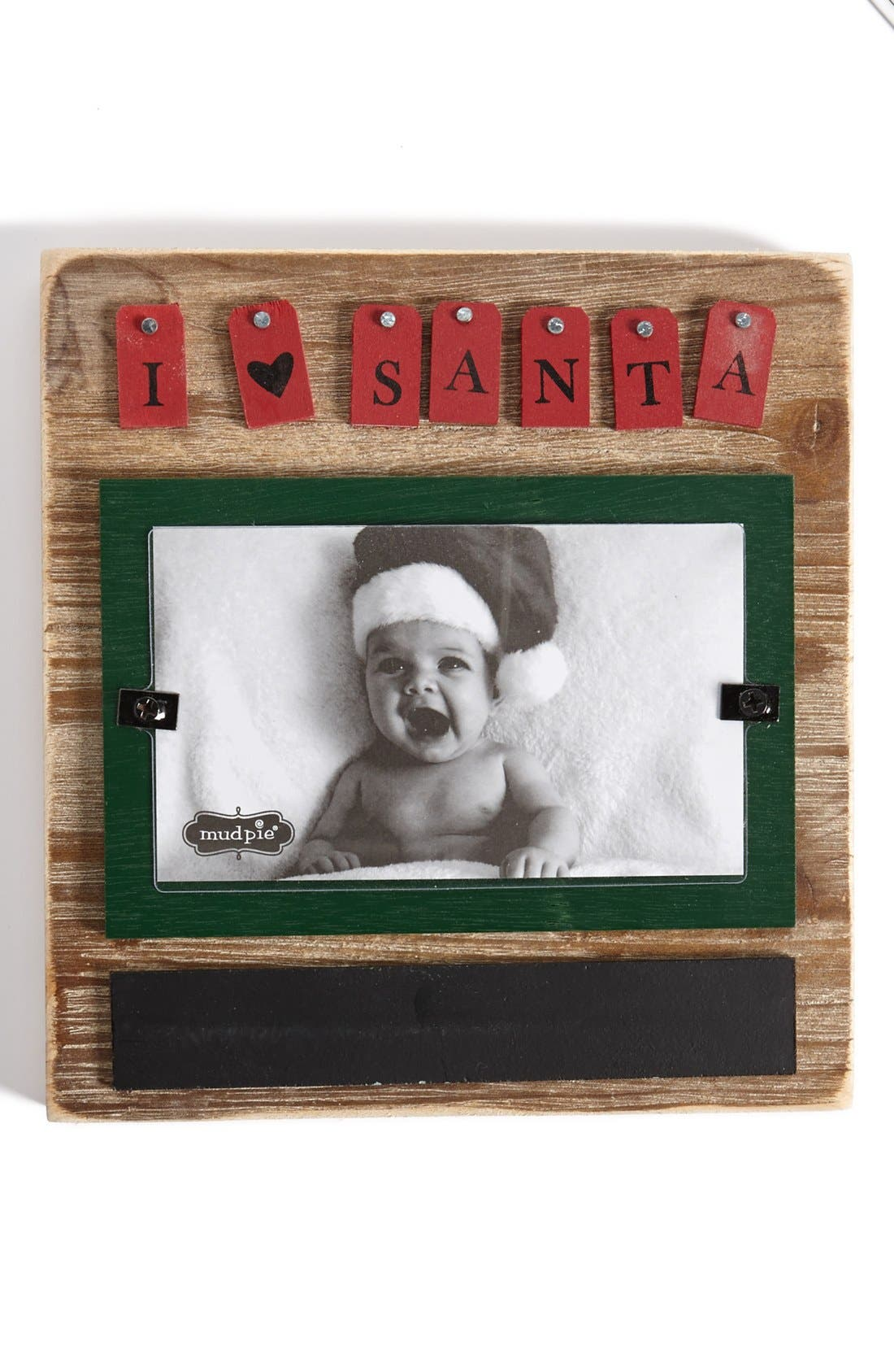 Alternate Image 1 Selected - Mud Pie 'I Love Santa' Wood Frame