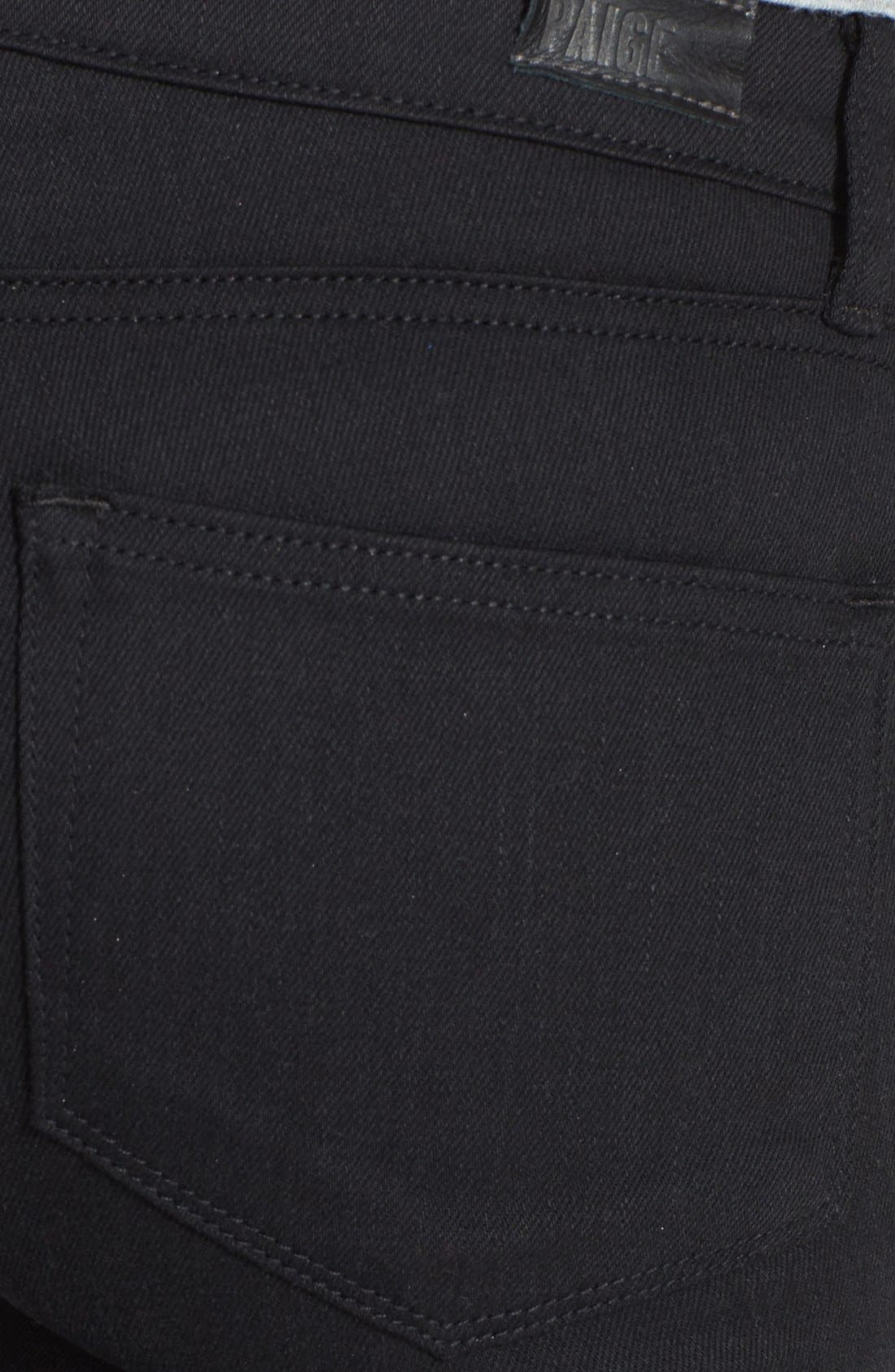 Alternate Image 3  - Paige Denim 'Indio' Zip Detail Ultra Skinny Jeans (Steel Grey)