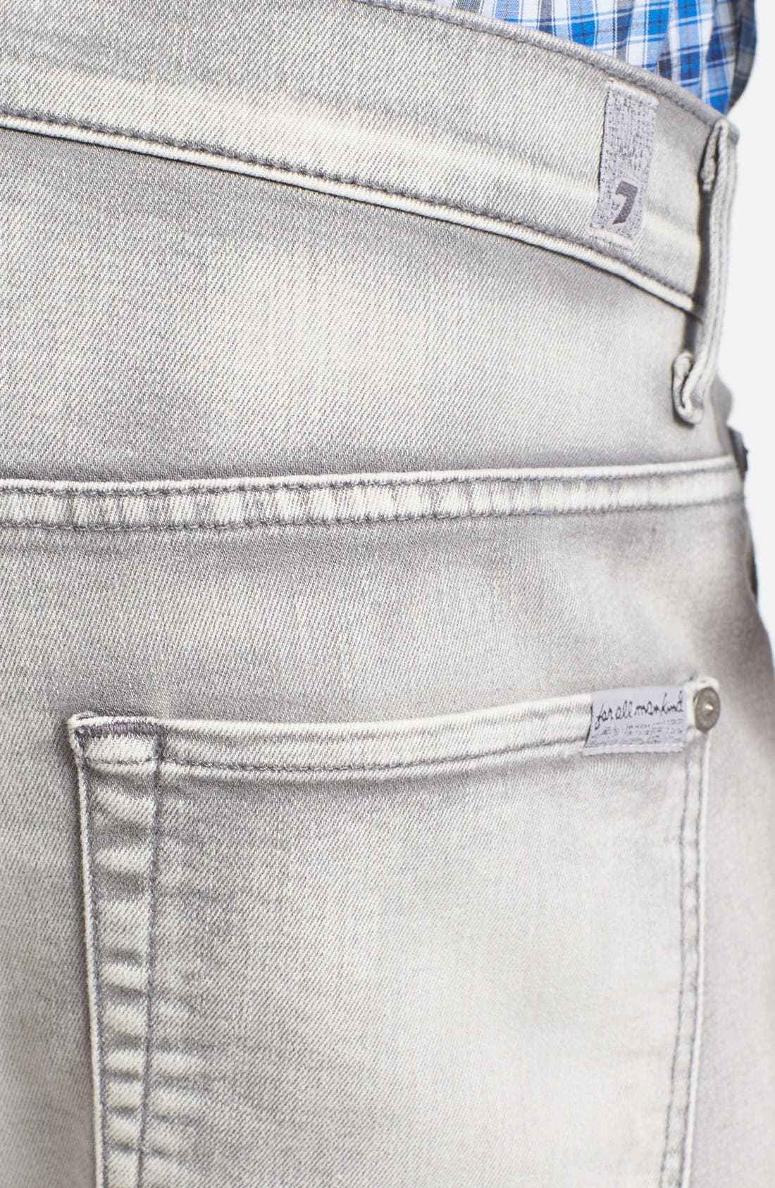 Alternate Image 4  - 7 For All Mankind® 'Paxtyn' Skinny Fit Jeans (Weathered White)