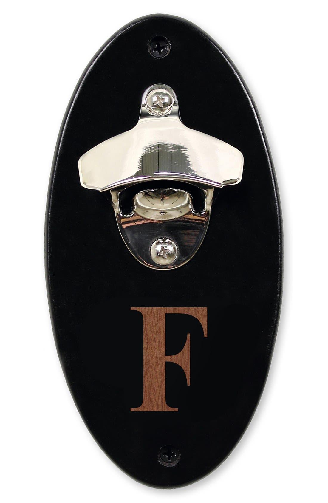 Monogram Wall Mount Bottle Opener,                         Main,                         color, F