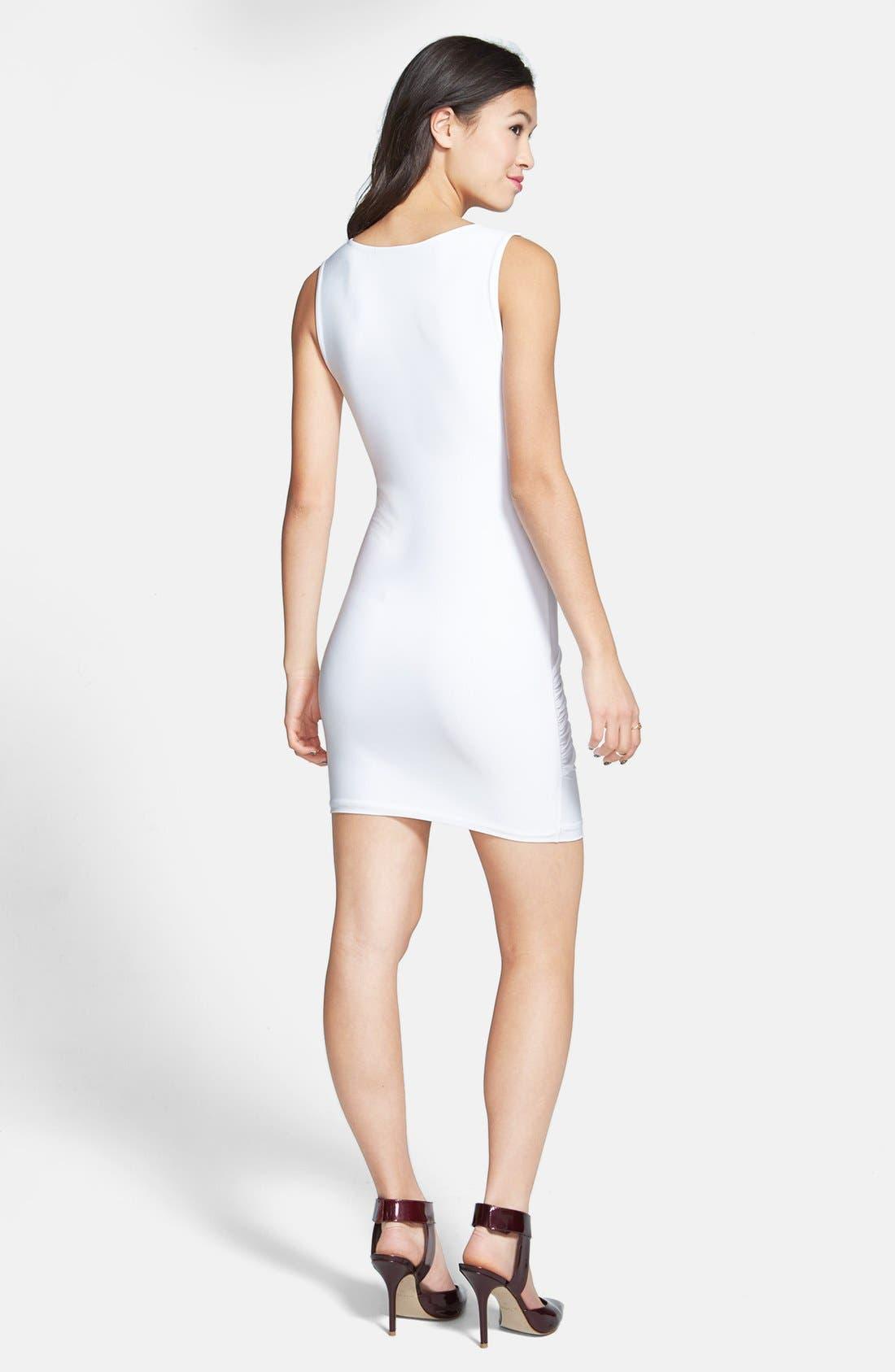 Alternate Image 2  - Soprano Ruched Body-Con Dress (Juniors)