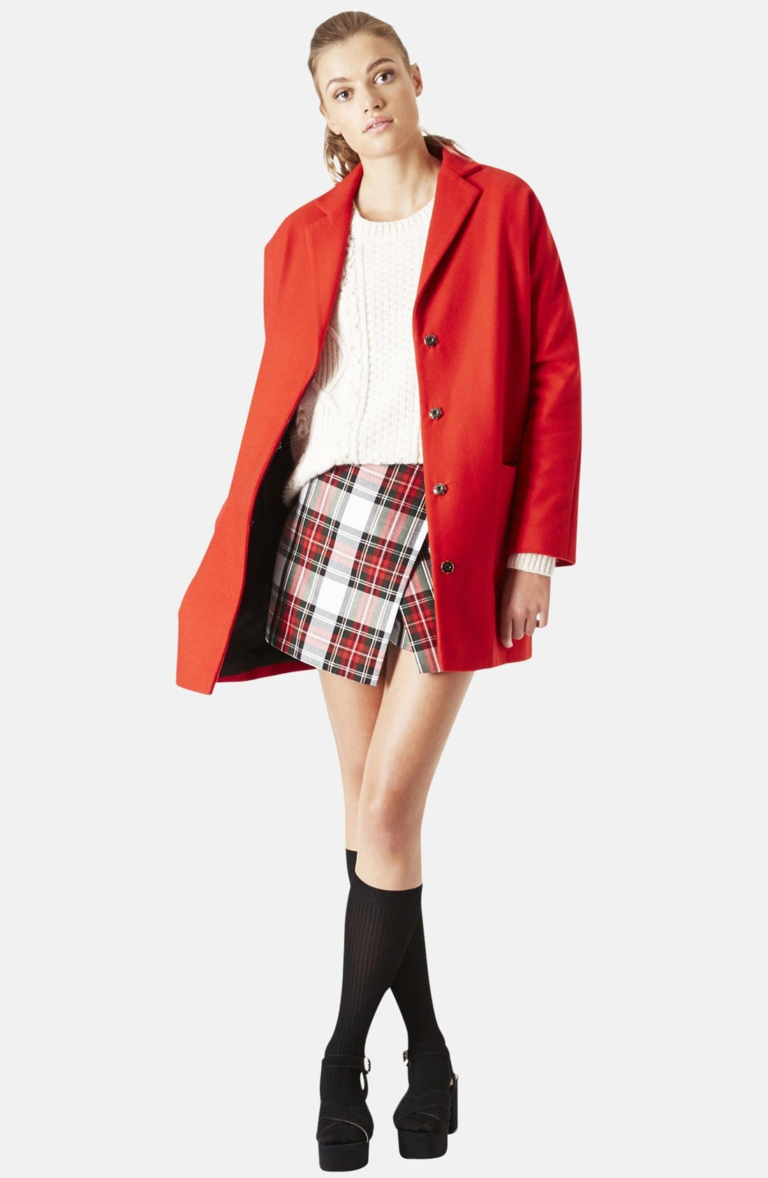 Alternate Image 4  - Topshop Oversized Snap Button Coat