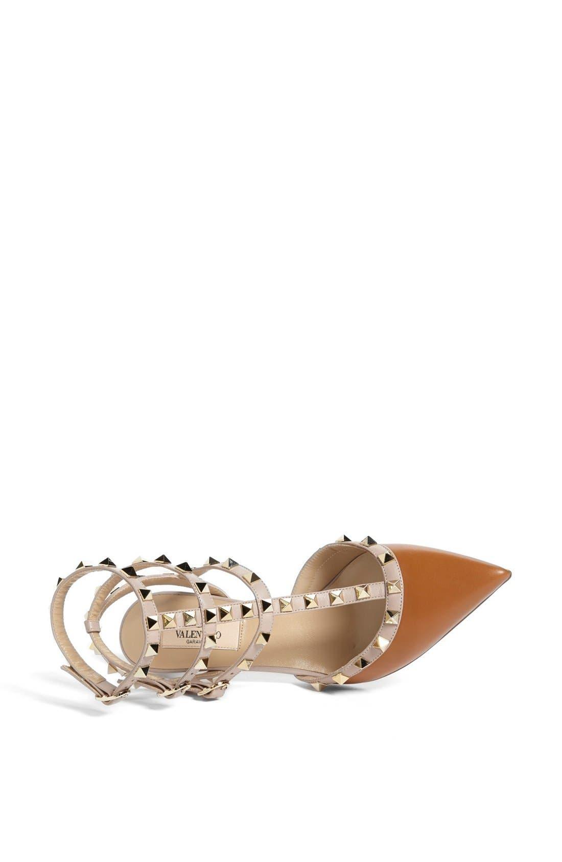 Alternate Image 3  - Valentino 'Rockstud' Triple Ankle Strap Pump