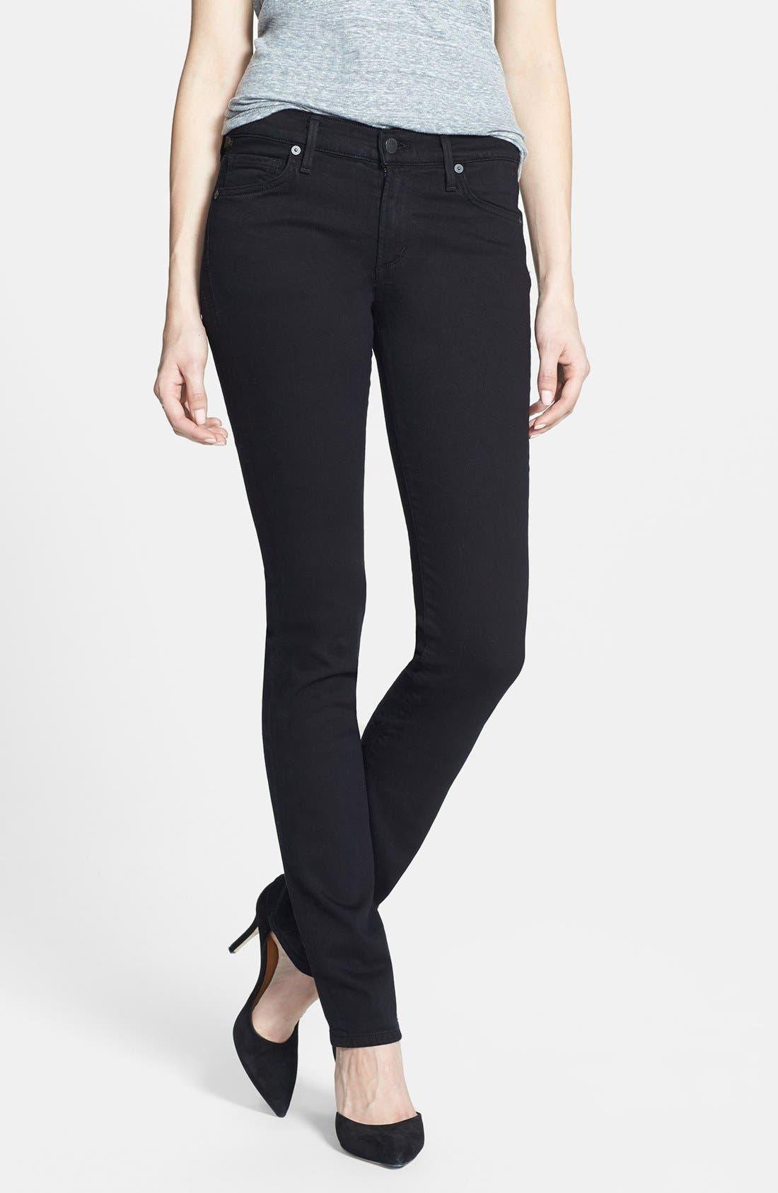 Alternate Image 1 Selected - Citizens of Humanity 'Ava' Straight Leg Jeans (Tuxedo)