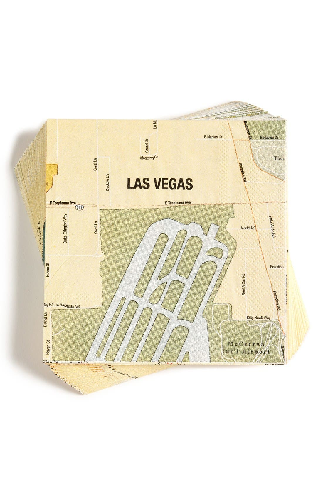 Alternate Image 1 Selected - Design Ideas 'Las Vegas Mapkins' Cocktail Napkins
