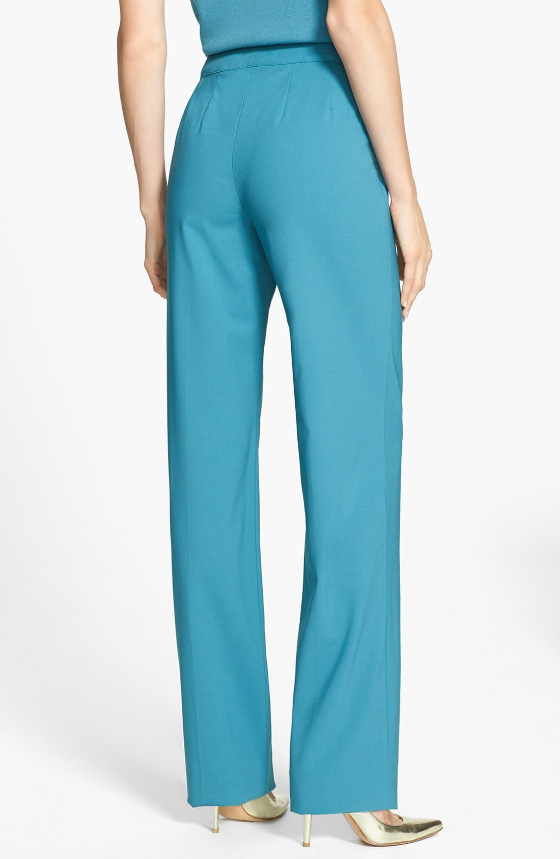 Alternate Image 4  - St. John Collection 'Diana' Straight Leg Tropical Wool Pants