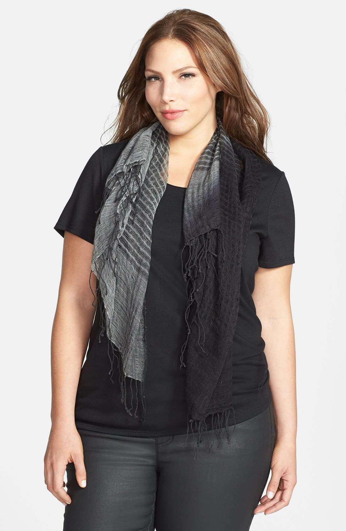 Alternate Image 2  - Eileen Fisher Square Fringe Scarf