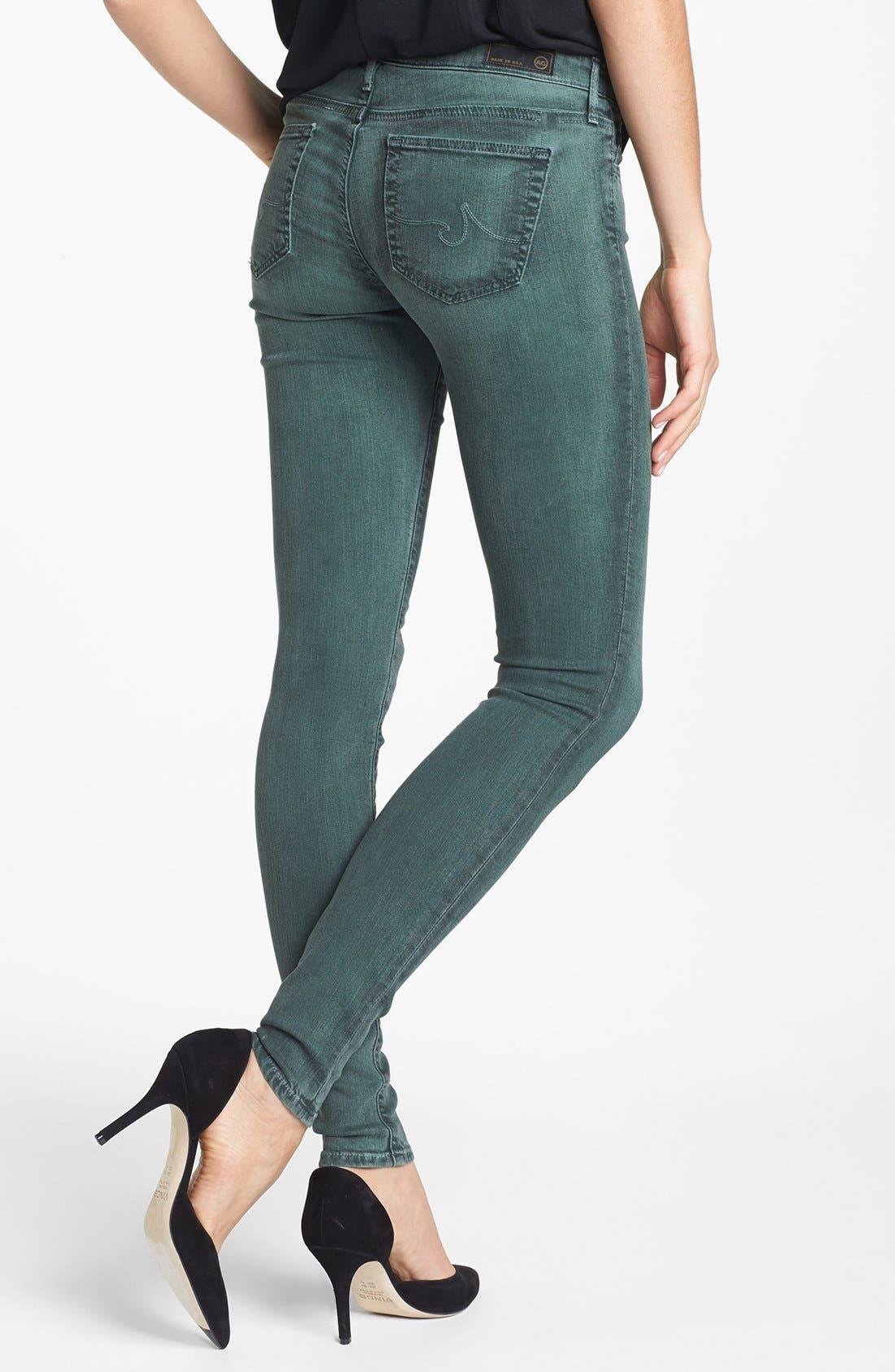 Alternate Image 3  - AG 'The Absolute Legging' Skinny Jeans (Storm Winter Green)