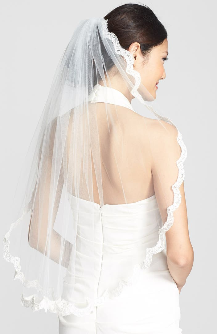 Wedding belles new york 39 lola 39 lace border veil nordstrom for Exclusive bordering