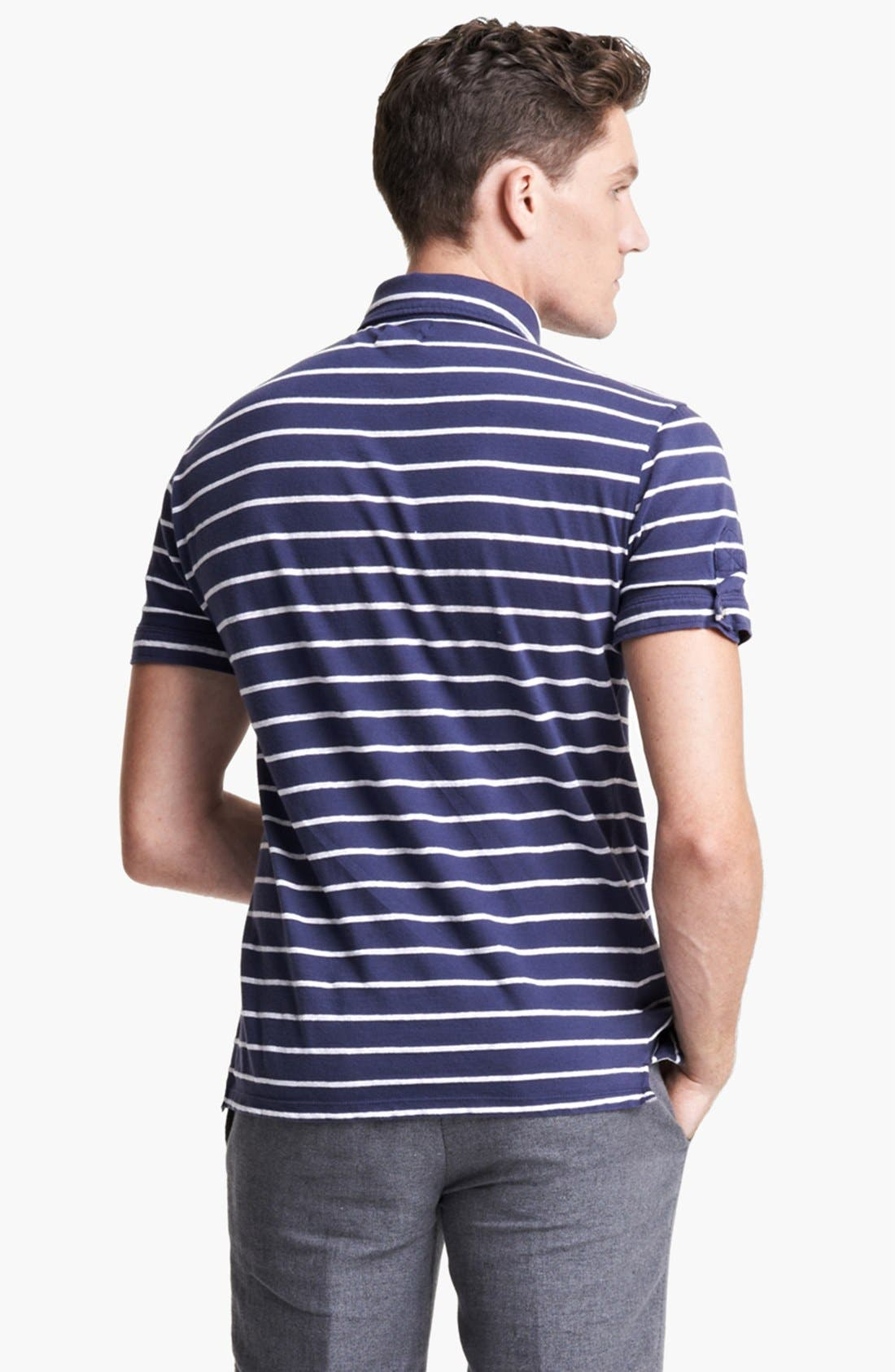 Alternate Image 2  - Michael Bastian Stripe Jersey Polo
