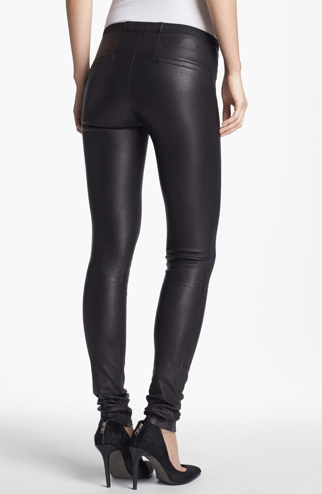 Alternate Image 2  - Helmut Lang Lambskin Leather Leggings