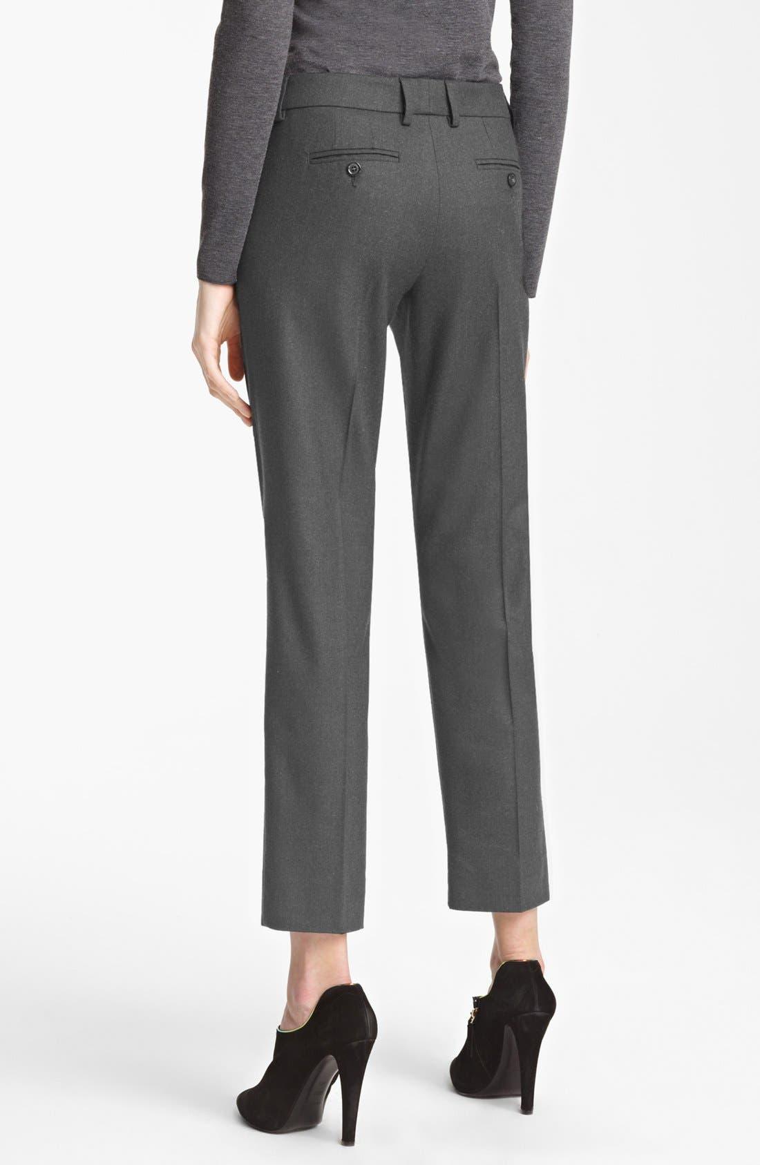 Alternate Image 3  - Armani Collezioni Slim Stretch Flannel Crop Pants