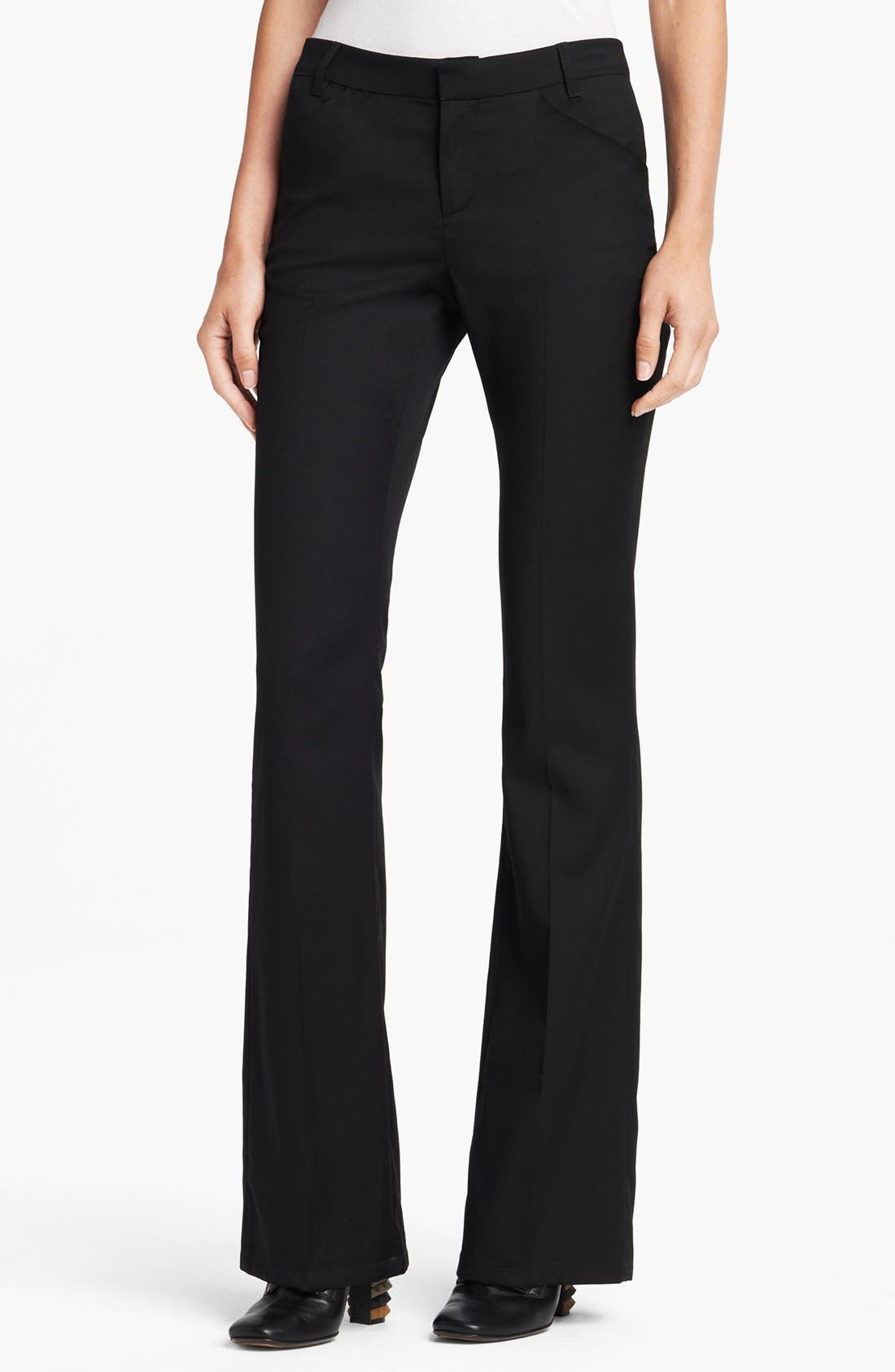 Alternate Image 1 Selected - Band of Outsiders Flare Leg Wool Twill Pants