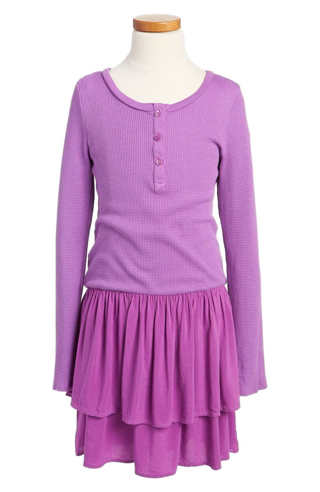Alternate Image 1 Selected - Splendid Thermal Henley Dress (Big Girls)