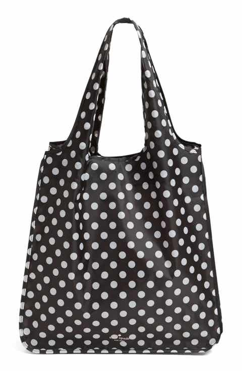 Kate spade new york tote bags for women leather coated canvas kate spade new york polka dot reusable shopping tote junglespirit Gallery