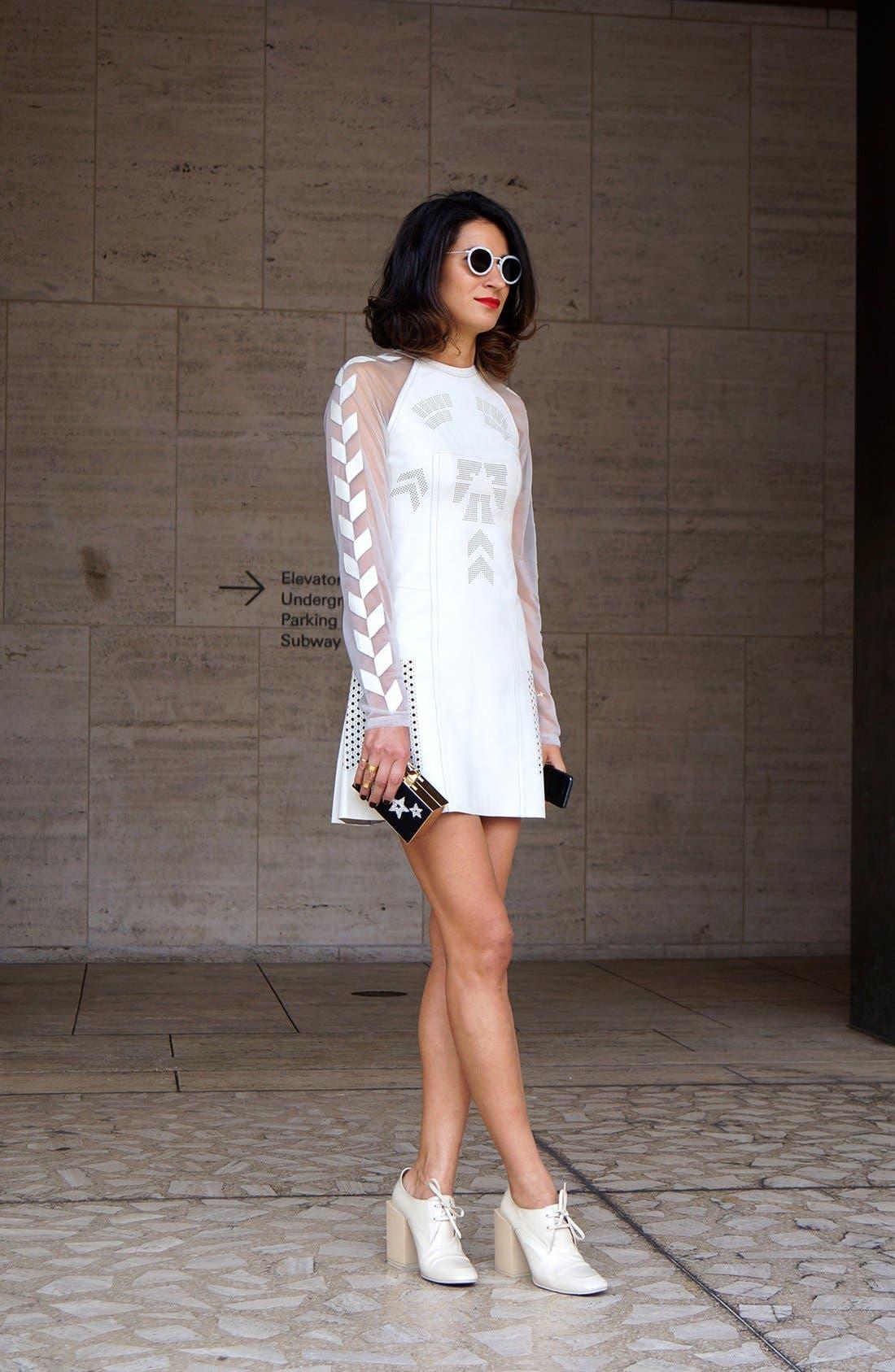 Alternate Image 1 Selected - Peekaboo Dress Street Style Look