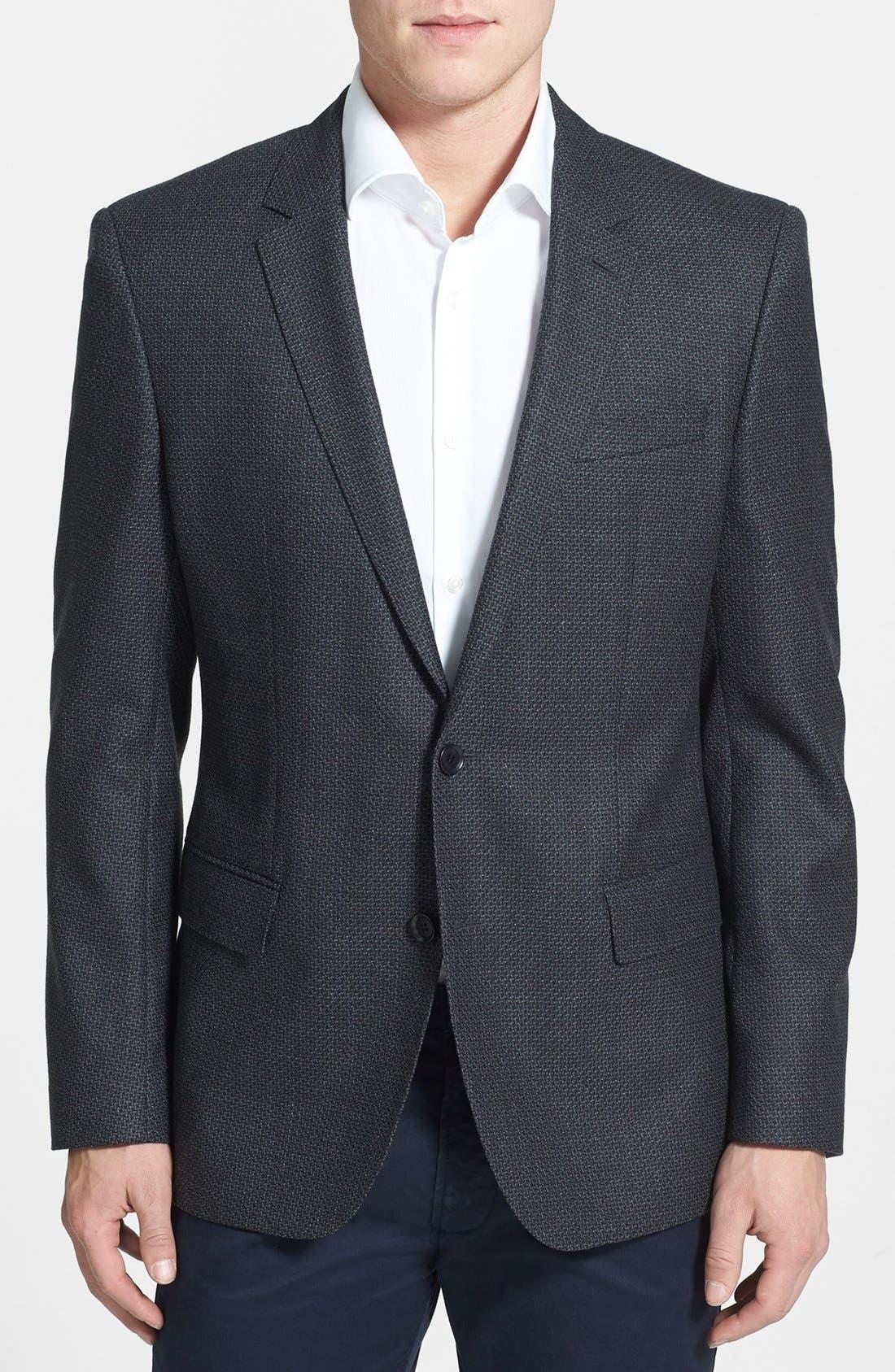 Main Image - BOSS HUGO BOSS 'Hutch' Trim Fit Wool Sportcoat
